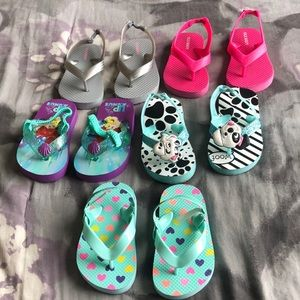 Toddler girl Flip flop lot